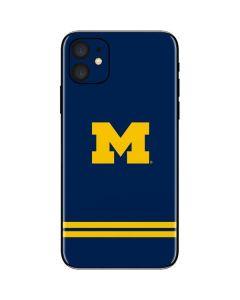 Michigan Logo Striped iPhone 11 Skin