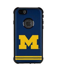 Michigan Logo Striped iPhone 6/6s Waterproof Case