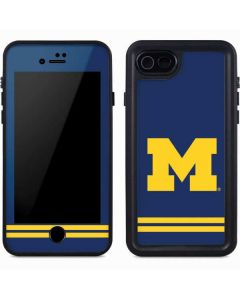 Michigan Logo Striped iPhone 8 Waterproof Case
