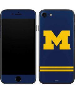 Michigan Logo Striped iPhone SE Skin