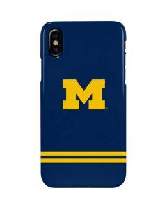 Michigan Logo Striped iPhone XS Max Lite Case
