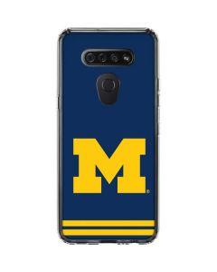Michigan Logo Striped LG K51/Q51 Clear Case