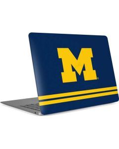 Michigan Logo Striped Apple MacBook Air Skin