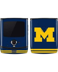 Michigan Logo Striped Motorola RAZR Skin