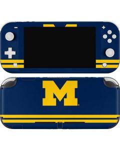 Michigan Logo Striped Nintendo Switch Lite Skin