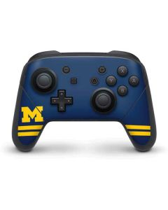 Michigan Logo Striped Nintendo Switch Pro Controller Skin