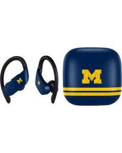 Michigan Logo Striped PowerBeats Pro Skin