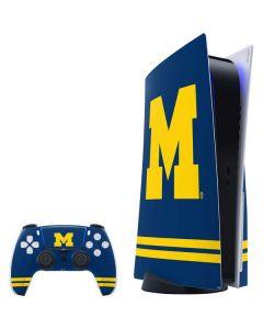 Michigan Logo Striped PS5 Bundle Skin