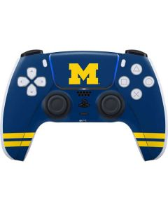 Michigan Logo Striped PS5 Controller Skin