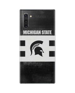 Michigan State University Black and White Stripes Galaxy Note 10 Skin
