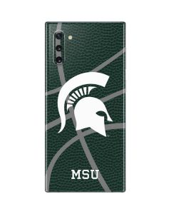Michigan State University Green Basketball Galaxy Note 10 Skin