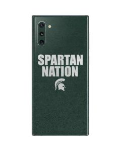 Michigan State University Spartans Nation Galaxy Note 10 Skin
