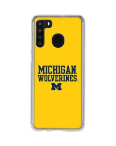 Michigan Wolverines Galaxy A21 Clear Case