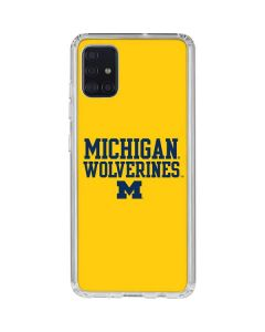 Michigan Wolverines Galaxy A71 Clear Case