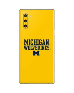 Michigan Wolverines Galaxy Note 10 Skin