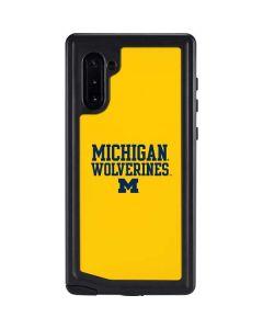 Michigan Wolverines Galaxy Note 10 Waterproof Case