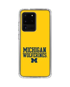 Michigan Wolverines Galaxy S20 Ultra 5G Clear Case