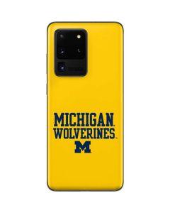 Michigan Wolverines Galaxy S20 Ultra 5G Skin
