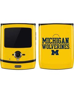 Michigan Wolverines Motorola RAZR Skin