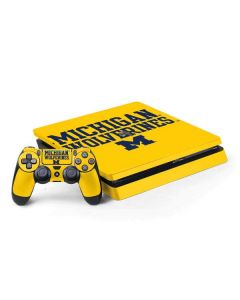 Michigan Wolverines PS4 Slim Bundle Skin