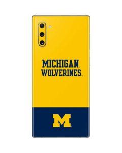 Michigan Wolverines Split Galaxy Note 10 Skin