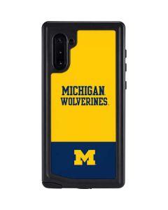 Michigan Wolverines Split Galaxy Note 10 Waterproof Case