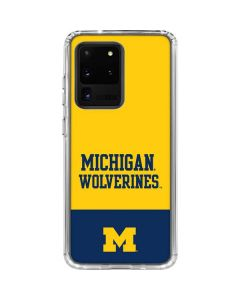 Michigan Wolverines Split Galaxy S20 Ultra 5G Clear Case
