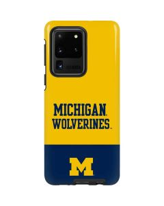 Michigan Wolverines Split Galaxy S20 Ultra 5G Pro Case