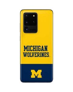 Michigan Wolverines Split Galaxy S20 Ultra 5G Skin