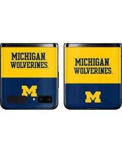 Michigan Wolverines Split Galaxy Z Flip Skin