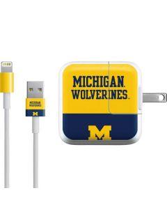 Michigan Wolverines Split iPad Charger (10W USB) Skin