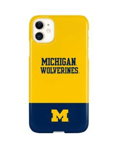 Michigan Wolverines Split iPhone 11 Lite Case