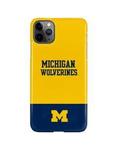 Michigan Wolverines Split iPhone 11 Pro Max Lite Case