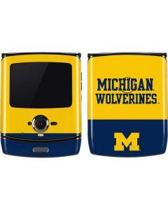 Michigan Wolverines Split Motorola RAZR Skin