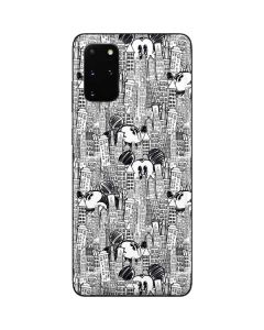 Mickey Mouse Cityscape Sketch Galaxy S20 Plus Skin
