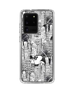 Mickey Mouse Cityscape Sketch Galaxy S20 Ultra 5G Clear Case