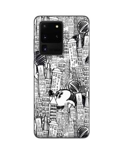 Mickey Mouse Cityscape Sketch Galaxy S20 Ultra 5G Skin