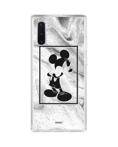 Mickey Mouse Marble Galaxy Note 10 Clear Case