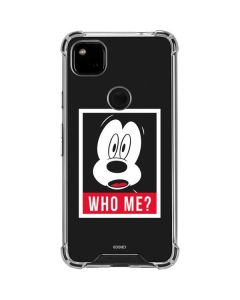 Mickey Mouse Who Me Google Pixel 4a Clear Case