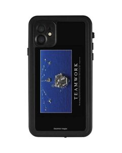 Military Inspirational Poster iPhone 11 Waterproof Case