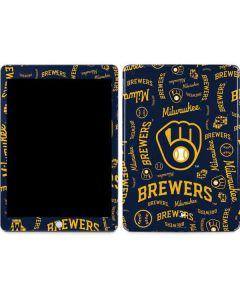 Milwaukee Brewers - Cap Logo Blast Apple iPad Skin