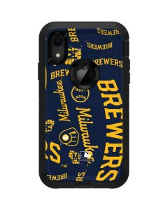 Milwaukee Brewers - Cap Logo Blast Otterbox Defender iPhone Skin