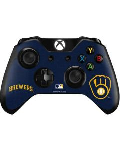 Milwaukee Brewers - Solid Distressed Xbox One Controller Skin
