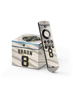 Milwaukee Brewers #8 Ryan Braun Fire TV Cube Skin