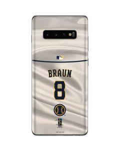 Milwaukee Brewers #8 Ryan Braun Galaxy S10 Plus Skin