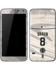 Milwaukee Brewers #8 Ryan Braun Galaxy S5 Skin