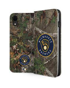 Milwaukee Brewers Realtree Xtra Green Camo iPhone XR Folio Case