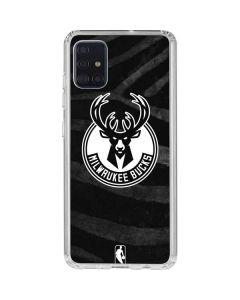 Milwaukee Bucks Animal Print Black Galaxy A51 Clear Case
