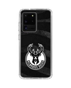 Milwaukee Bucks Animal Print Black Galaxy S20 Ultra 5G Clear Case