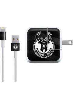 Milwaukee Bucks Animal Print Black iPad Charger (10W USB) Skin